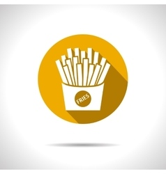 fries icon Eps10 vector image