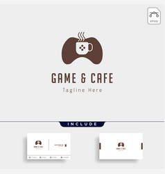 game cafe logo design concept icon element vector image