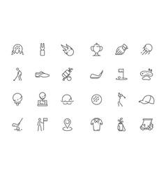 Golfing icon sport club symbols bag vector