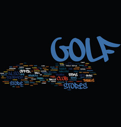 Golfstore text background word cloud concept vector