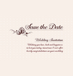 Greeting card wedding vector