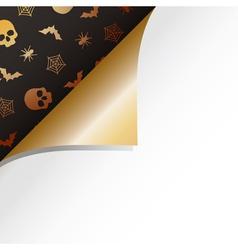 halloween paper curl vector image