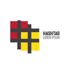 hashtag design logo template elements vector image