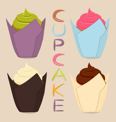 icon logo for whole berry cupcake vector image