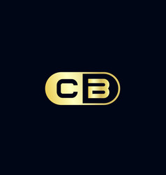 initial letter cb logo template design vector image