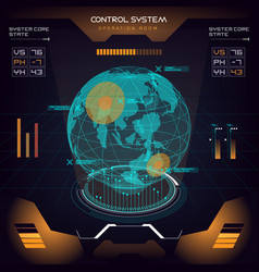 Interface ui design graphic hud vector