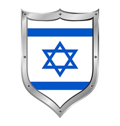 Israel flag button vector image