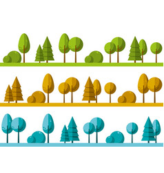 Landscape with trees as background vector