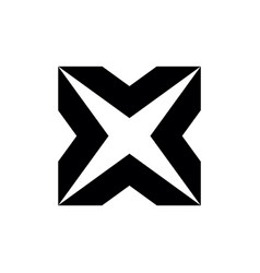letter x initial logo vector image
