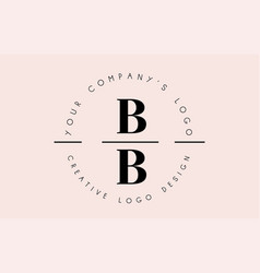 letters bb b logo set as a stamp or personal vector image