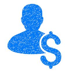 Loan person grunge icon vector