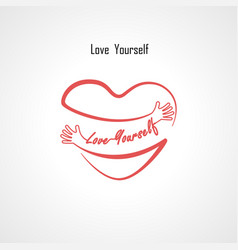 Love yourself typographical design elements and vector