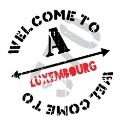 Luxembourg stamp rubber grunge vector