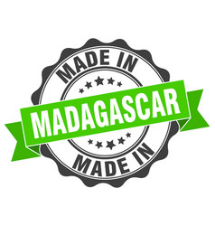 Made in madagascar round seal vector