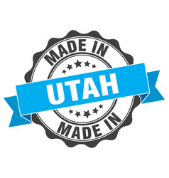 Made in utah round seal vector