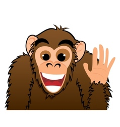 Monkey invitation vector image