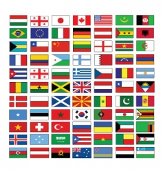 Multinational flags vector