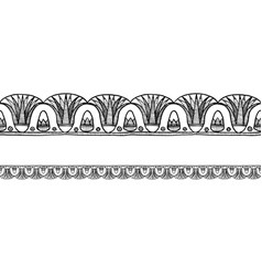 Old egyptian border ornament vector