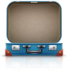 Open old retro vintage suitcase vector image