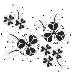 Ornament in black 06 vector image