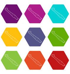 paper language icons set 9 vector image