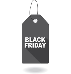 Paper tag plate for black friday vector image