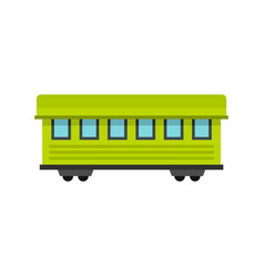 Passenger train car icon flat style vector