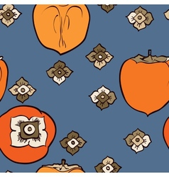 persimmon seamless pattern vector image