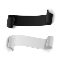 Realistic Ribbon Banner Set 3D vector image