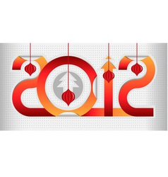 red new year gift sign vector image