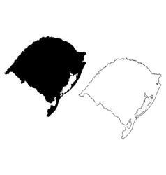 rio grande do sul map vector image