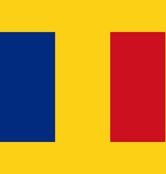 romanian flag flat layout vector image