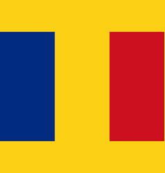 Romanian flag flat layout vector