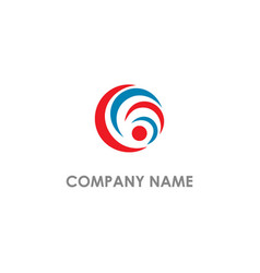 round circle curve company logo vector image
