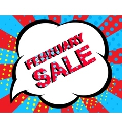 Sale poster with FEBRUARY SALE text Advertising vector