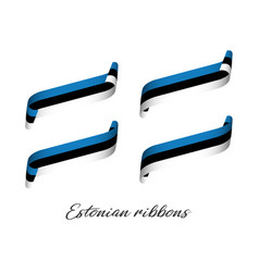 Set of four modern colored estonian ribbons vector
