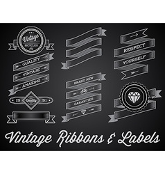 Set of Vintage Retro Style Premium Design Labels vector image