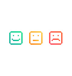 set square emoticon icons vector image