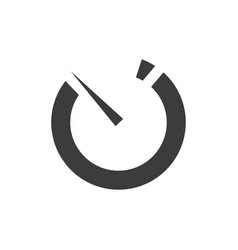 simple common timer icon vector image