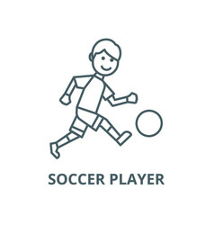 soccer player line icon linear concept vector image