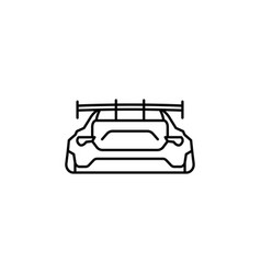 sports car back icon element of racing for mobile vector image