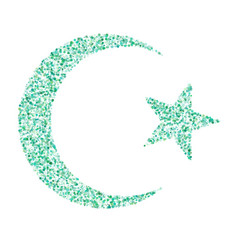 Star and crescent - symbol of islam icon for apps vector