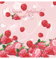 Summer background with fruits vector