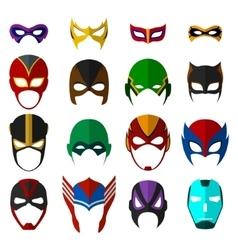 Super hero masks set vector