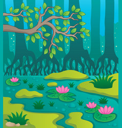 Swamp theme image 2 vector