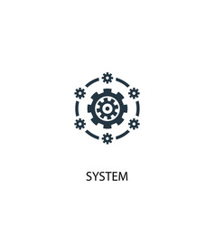 system icon simple element vector image