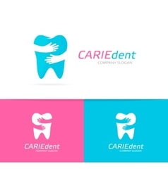 tooth and hands logo combination Dental vector image
