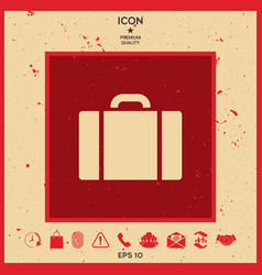 travel bag icon vector image