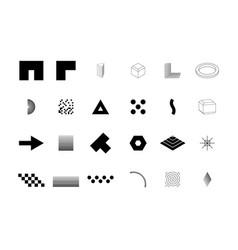 Trendy geometric shapes set for logo billboard vector
