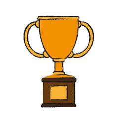 Trophy draw vector